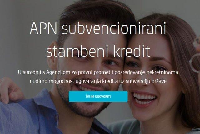 PROAGENT-OVE NEKRETNINE I APN SUBVENCIONIRANI STAMBENI KREDIT ZAGREBAČKE BANKE