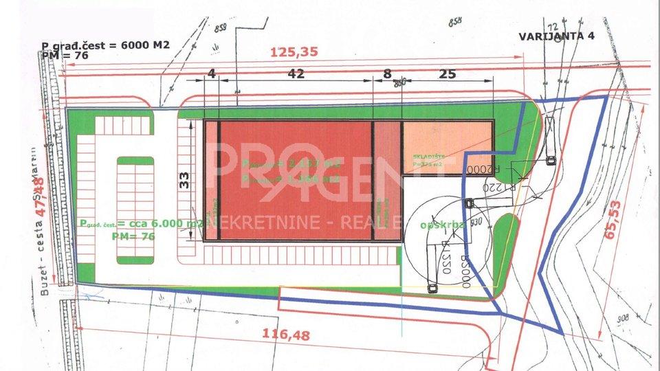 Land, 7287 m2, For Sale, Buzet