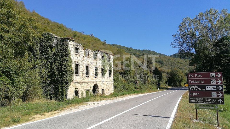 Istra, kamena ruševna kuća kod Sovinjaka