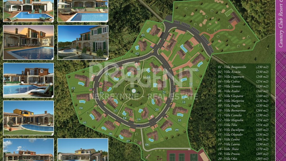 Building land for Resort, central Istria