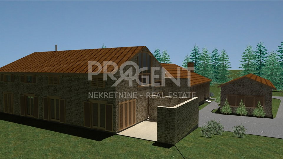 Barban, building plot with permission to build a house with a swimming pool