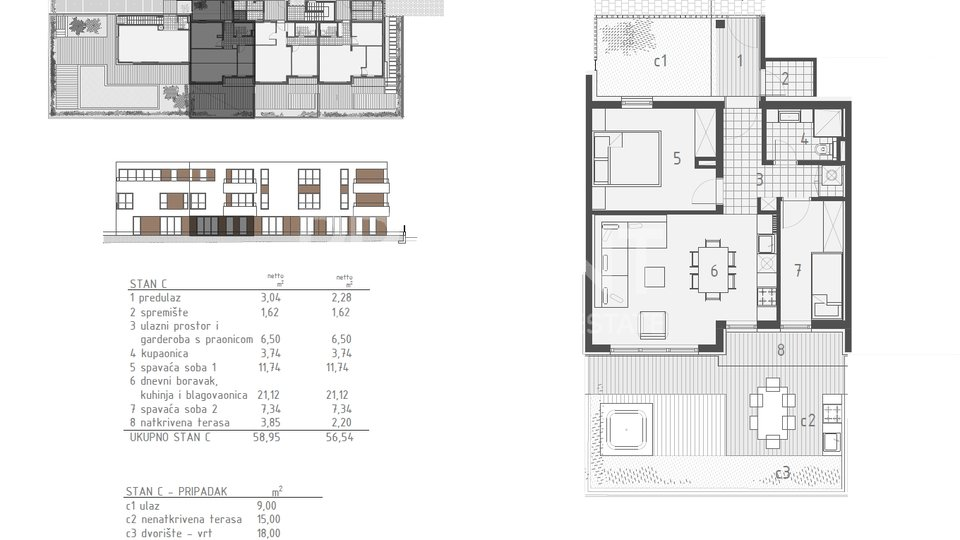 Novigrad, stan u novogradnji u prizemlju zgrade