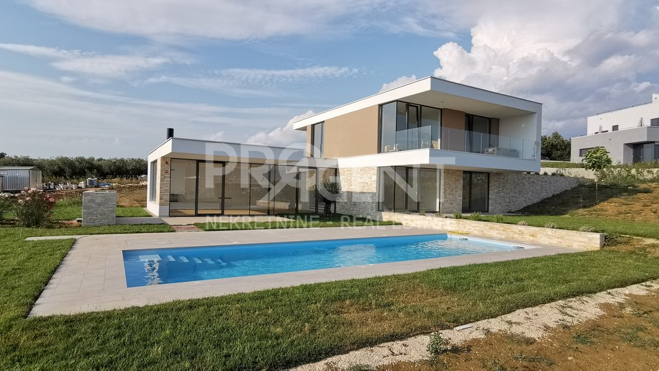 Istria, new villa with pool and sea view