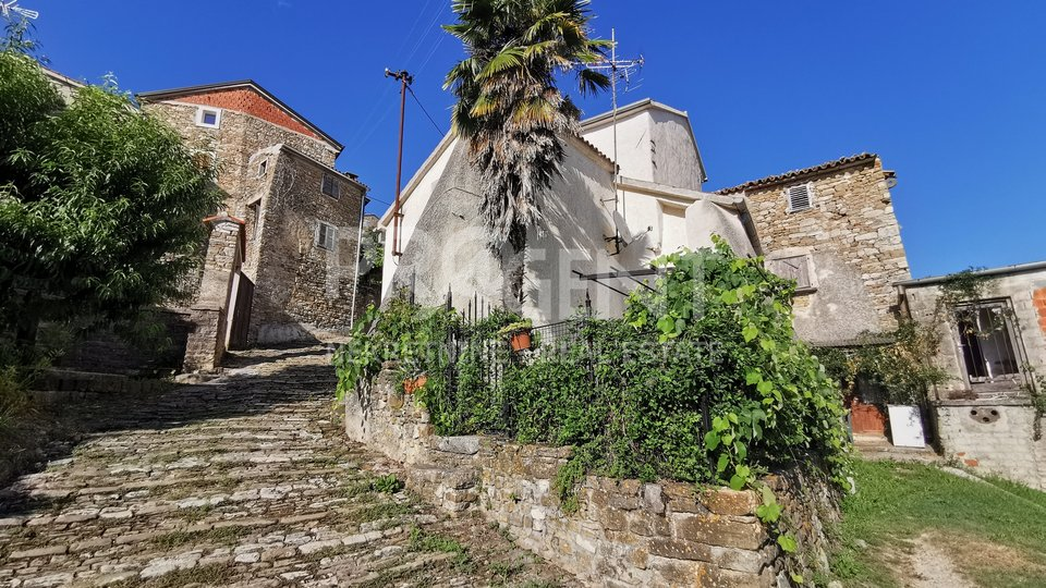 Motovun, stone house with garden and tavern
