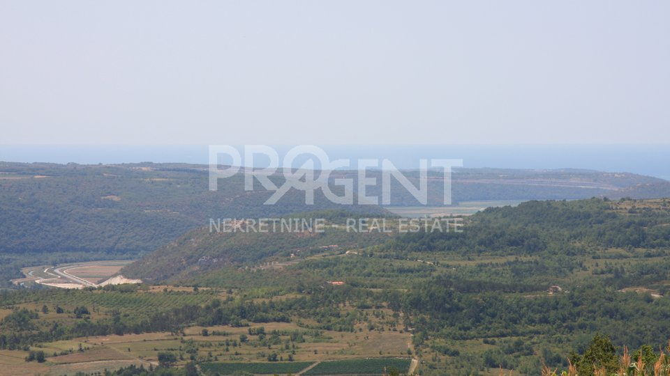 Istria / Grožnjan, building land with sea view
