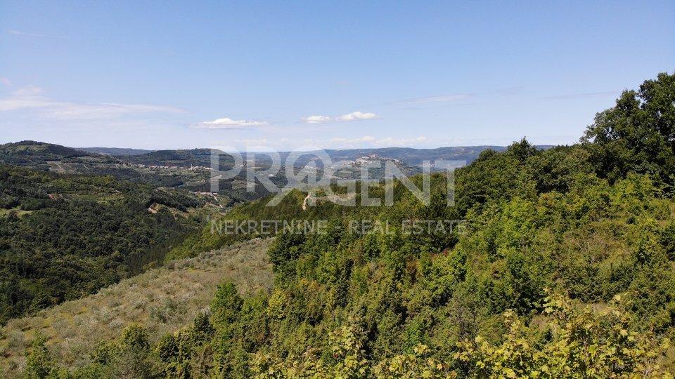 Zamask, a building plot with beautiful views of Kaldir and Motovun