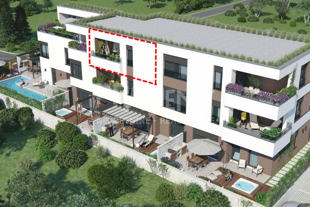 Novigrad, apartment in a new building with sea view