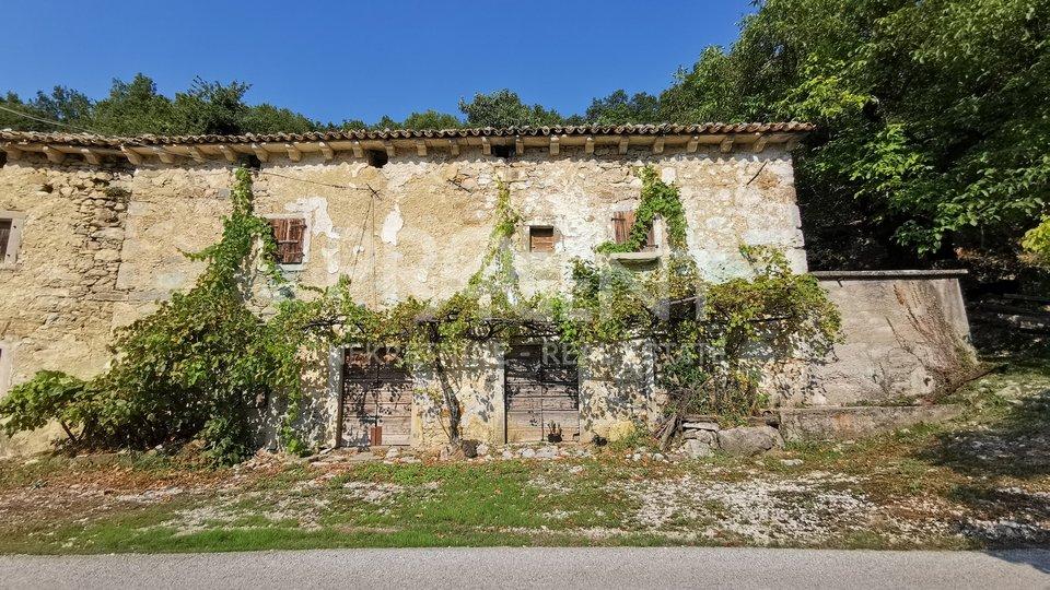 Istra, stara kamena kuća i staja sa zemljištem