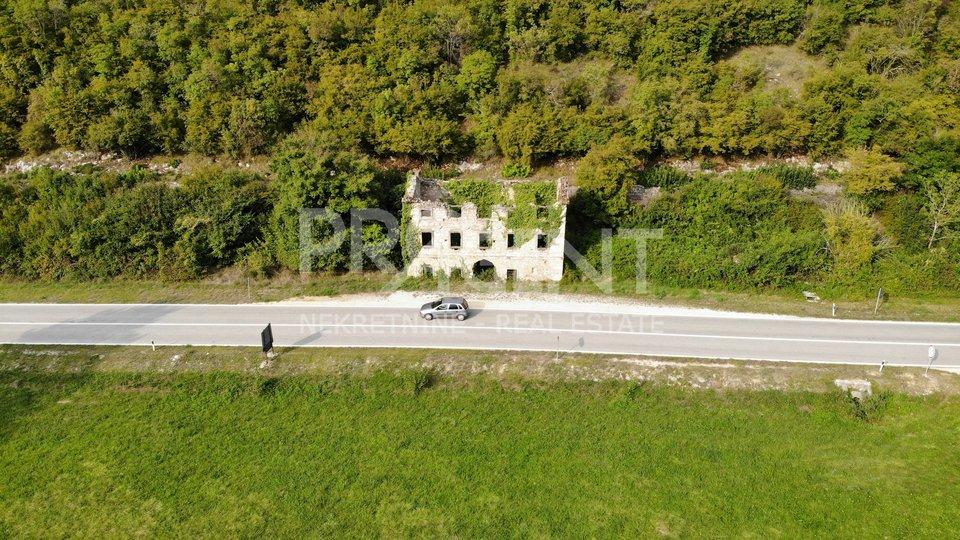 Istria, a stone ruin house near Sovinjak