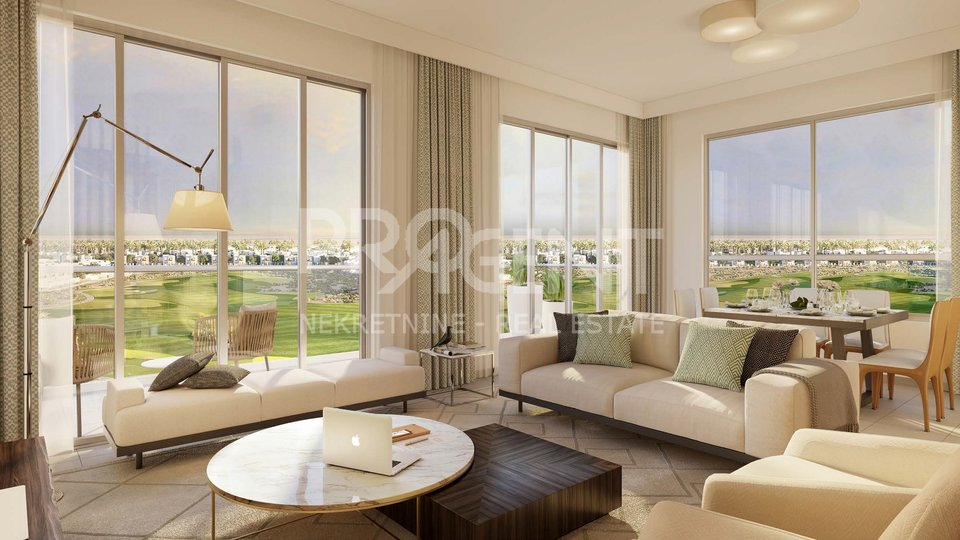 Dubai, three bedroom apartment in golf resort