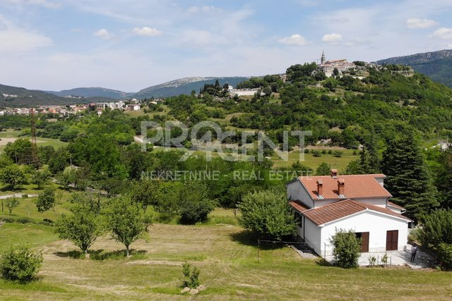 Istria, detached house in Buzet with 3714 m2 garden