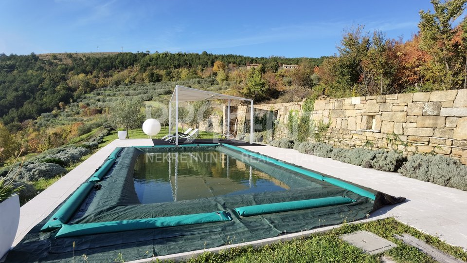Villa with pool, beautiful views of Motovun