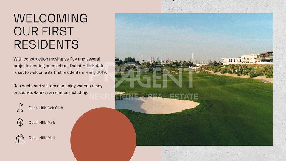 Dubai Hills, GOLFVILE, jednosobni stan u golf resortu
