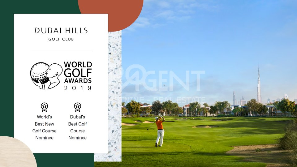 Dubai Hills, GOLFVILE, two bedroom apartment in a golf resort