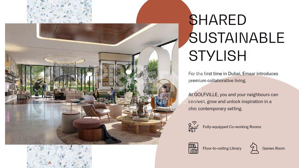 Dubai Hills, GOLFVILE, one bedroom apartment in a golf resort