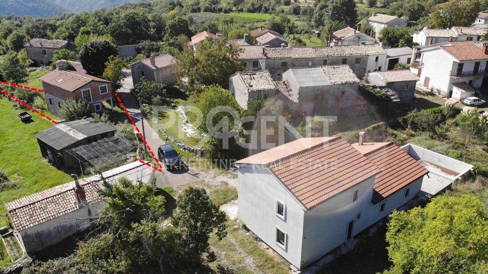 Istrien, Buzet, Wiederaufbau und Erweiterung des Steinhauses