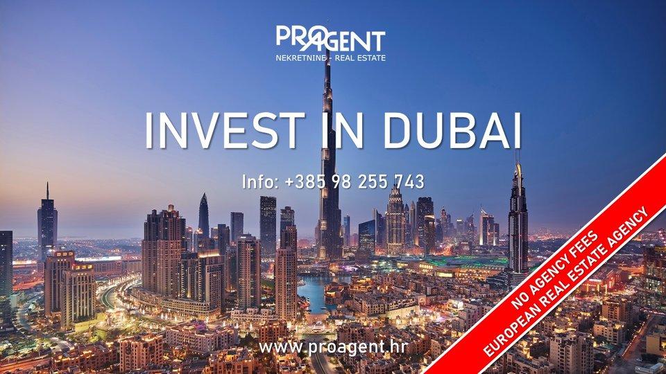 Dubai, three bedroom apartment in golf resort