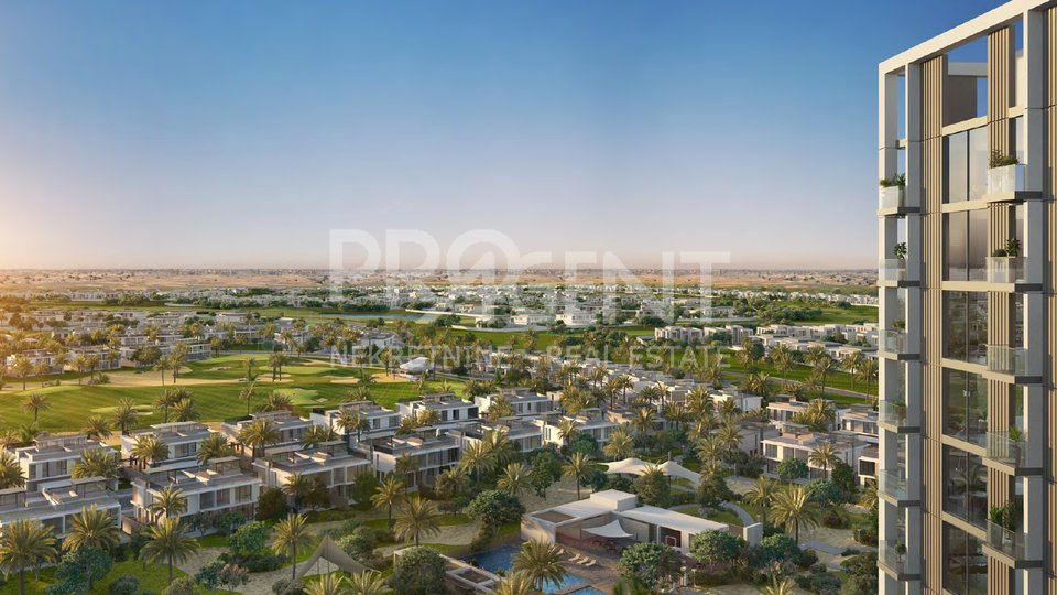 Dubai Hills, GOLFVILE, Apartment mit einem Schlafzimmer in einem Golfresort