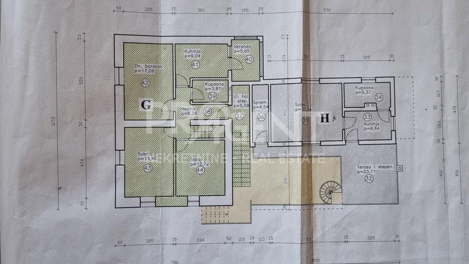 Istrien, Maisonette-Wohnung im Zentrum von Buje